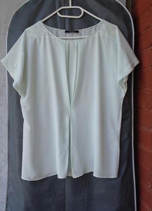 Пастельная блуза спереди плиссе