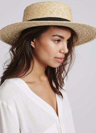 Соломенные шляпы канотье с большим полем