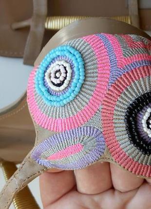 Босоножки шлепанцы шлепки сандалии с вышивкой бисером saint tropez