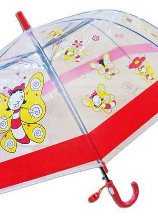 Распродажа детский яркий прозрачный зонт зонтик трость для девочки 2-5 л