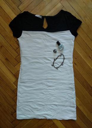 Белое платье на лето, черно белое платье на лето, короткое летнее платье