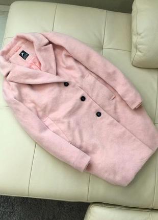 Шерстяное пальто-бойфренд цветом чайной розы от atmosphere