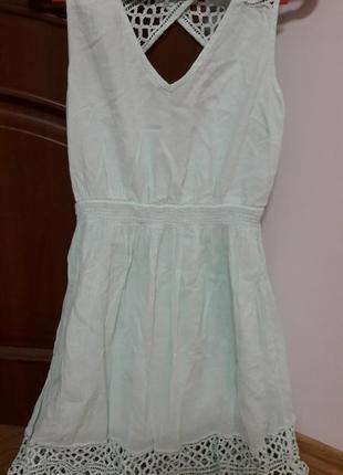 Супер платье мятное vila