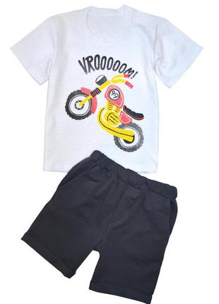 Летний костюм, комплект футболка и шорты, р.1-2-3-4-5-6 лет
