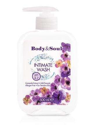 Гель для интимной гигиены body&soul intimate wash