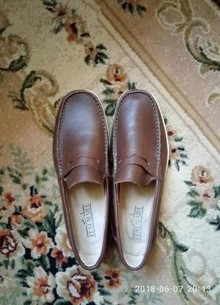 Стильные мужские туфли,кожа