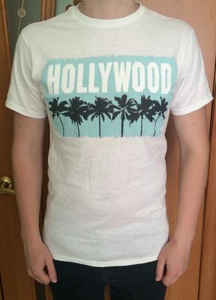Мужская футболка с принтом hollywood