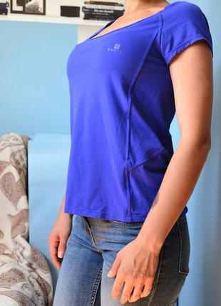 Спортивная футболка синяя размер хс-с