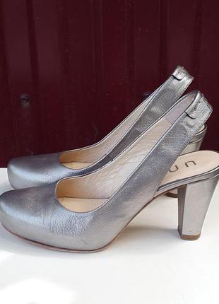 Кожаные туфли босоножки unisa 38 р. оригинал испания