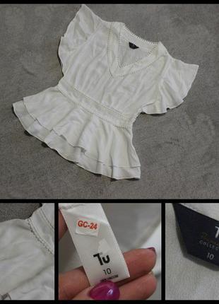 Tu.шикарная белоснежная блуза.
