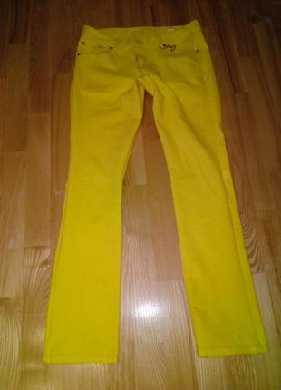 Літні штани лимонного кольору