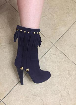 Супер замшевые ботинки туфли ботильоны5