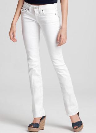 Легендарные американские джинсы, белые, клеш, 26 (s)