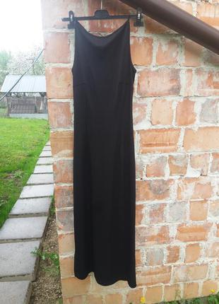 Шикарное платье в пол с разрезами побоках италия