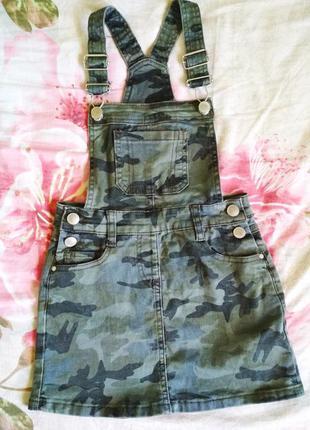 Комбинезон юбка  милитари