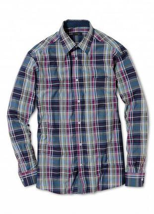 Стильная мужская хлопковая рубашка tchibo тсм  германия.наш 52-54