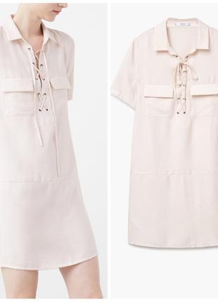 Не zara платье рубашка mango сафари оверсайз платье мини короткое пудровое платье футболка