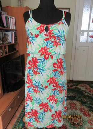 Платье сарафан 16-18 р-ра,вискоза