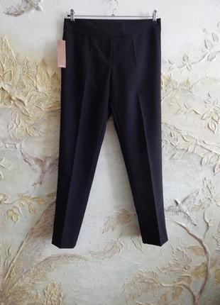Классические, повседневные черные брюки, штаны на l-xl