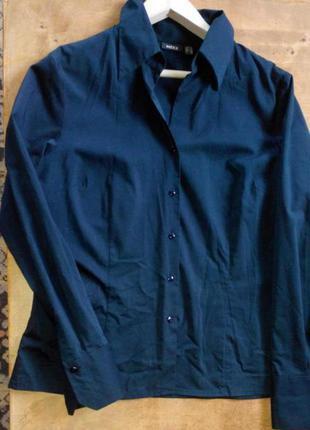 Блуза рубашка офисная шелк+вискоза длинный рукав