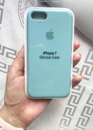 Силиконовый чехол бампер silicone case iphone 6/7/8 бесплатная доставка