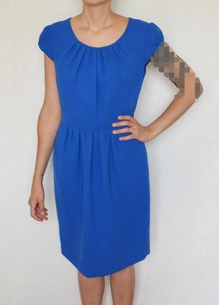 Синее платье calvin klein электрик