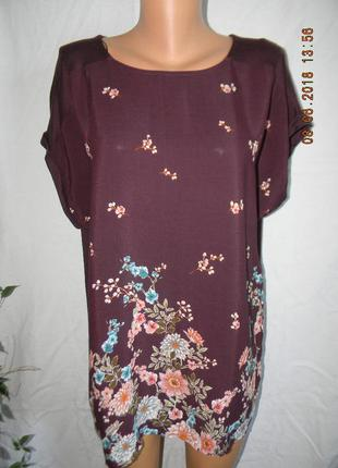 Легкая блуза с принтом большого размера