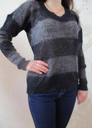 Джемпер/пуловер в полоску/мохер