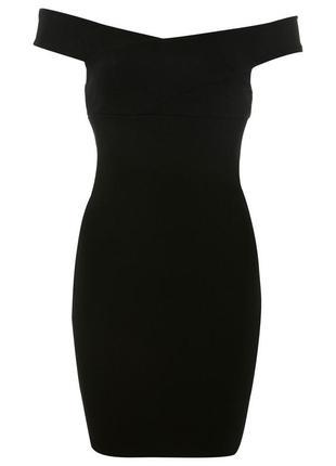 Короткое облегающее платье с открытыми плечами miss selfridge2 фото