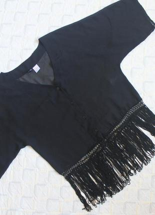 Блуза с бахромой h&m