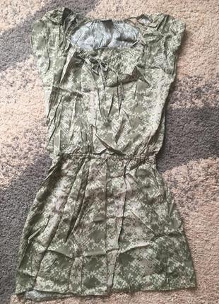 Оливковое платье calvin klein