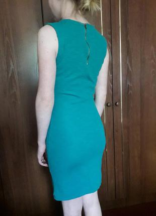 Бирюзовое платье pull&bear