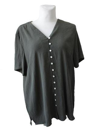Блуза оливкового цвета 18003