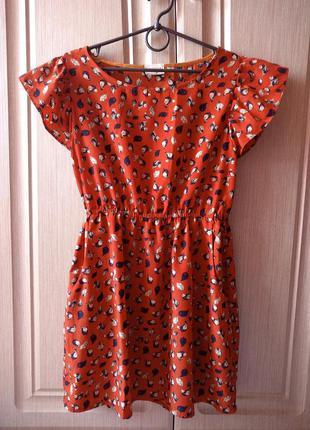 Лёгкое милое платье с птичками s/m