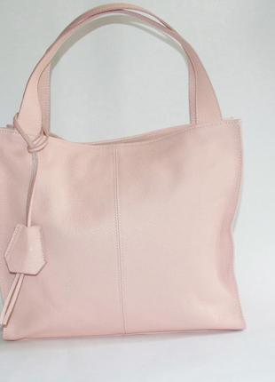 Большая мягкая женская сумка натуральная кожа италия