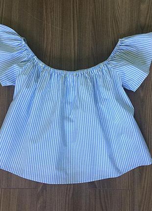 Трапециевидная блузка с коротким рукавом