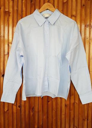 Широкая блуза, рубашка h&m из 100% хлопка