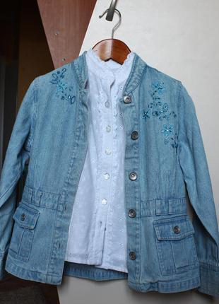 Модный джинсовый пиджак с бисером ♥ next ♥