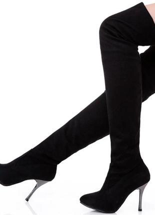Высокие сапоги выше колена