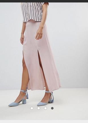-70% актуальная юбка макси из вискозы с разрезами, легкая длинная