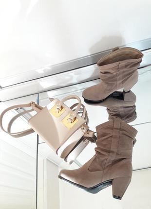 Казаки сапоги ковбойские ботинки