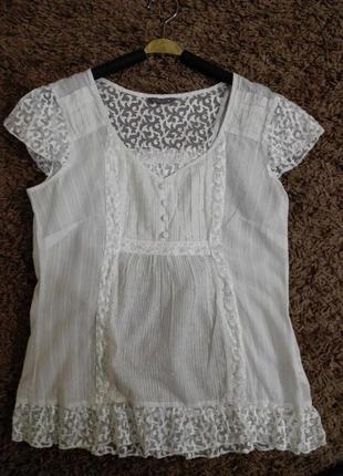 Очень красивая комбинированная блузка