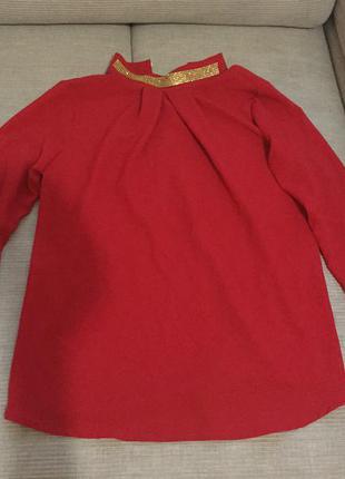Красная шифоновая блузка