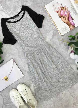 Молодежное платье из серого меланжа  dr1823094  atmosphere