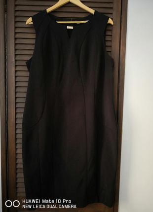 Чёрное элегантное платье футляр