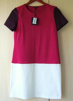 Розово-белое платье средней длины massimo dutti, s