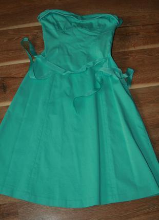 Нарядное выпускное платье миди юбка солнце oasis