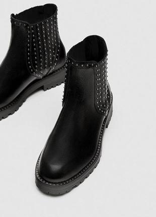 Ботинки с натуральной кожи zara