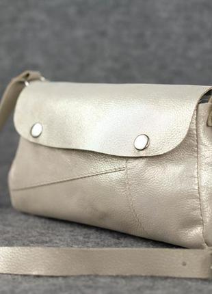 Кожа. ручная работа. кожаная светлая, летняя сумка, сумочка через плечо