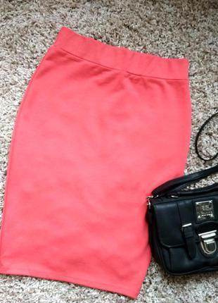 Шикарная персиковая юбка на каждый день 6-8р